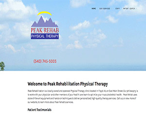 C@PSTONE Client - Peak Rehabilitation Therapy